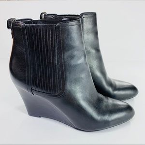 Sam Edelman Gillian Ankle Bootie Black Leather 9 M
